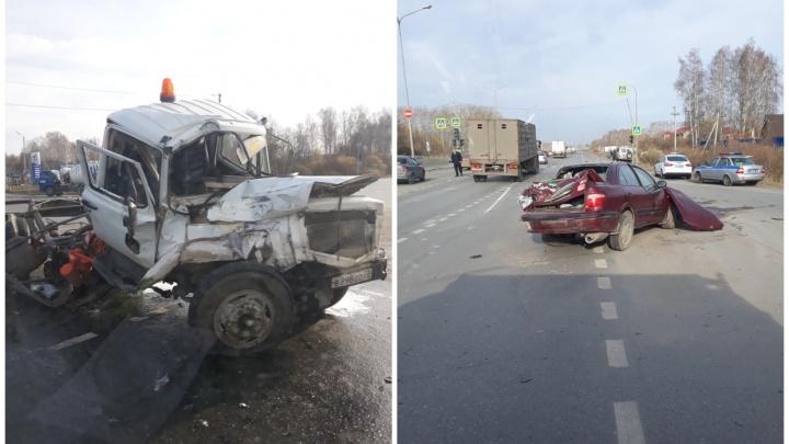 Четыре машины столкнулись из-за неработающего светофора на тюменской объездной. Есть пострадавший