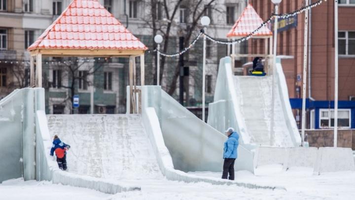 Докатились. Главный ледовый городок в Челябинске закрыли на все выходные