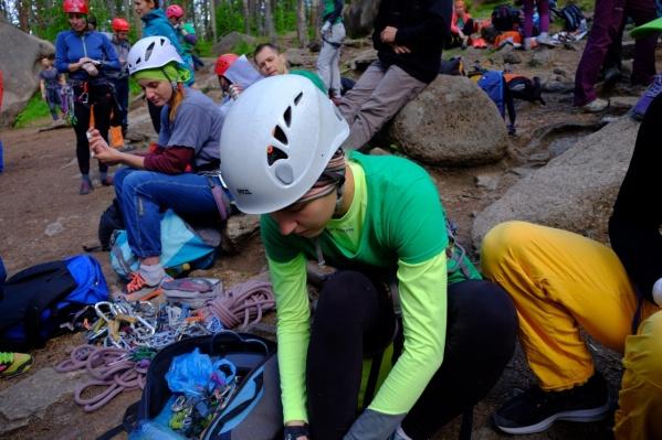 Вчера на «Столбах» прошли соревнования среди альпинистов