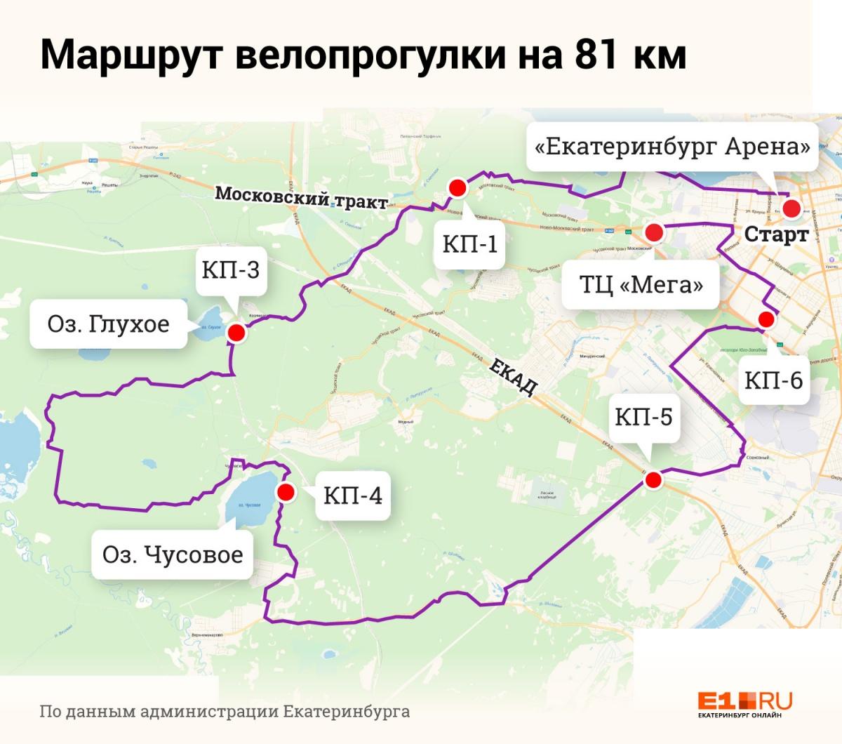 А какой вам по силам? Публикуем схемы всех маршрутов «Майской велопрогулки — 2019»