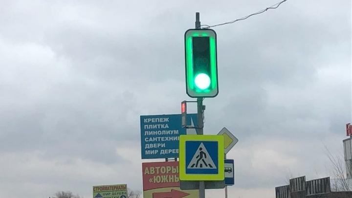 В Самаре установили новые светофоры с дополнительной подсветкой