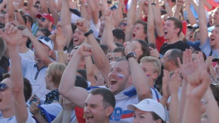 «Дзюба, Дзюба!»: как в Ростове болели за Сборную России
