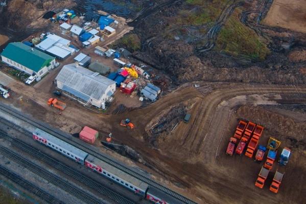 Для чего на станции Шиес вырубили лес и готовят грунт, расскажут в октябре&nbsp;<br>