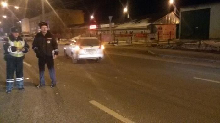 Авария случилась рядом с полком ГИБДД