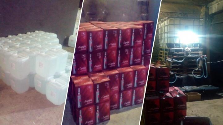 В Ишиме остановили грузовик, набитый нелегальными сигаретами и алкоголем на три миллиона рублей
