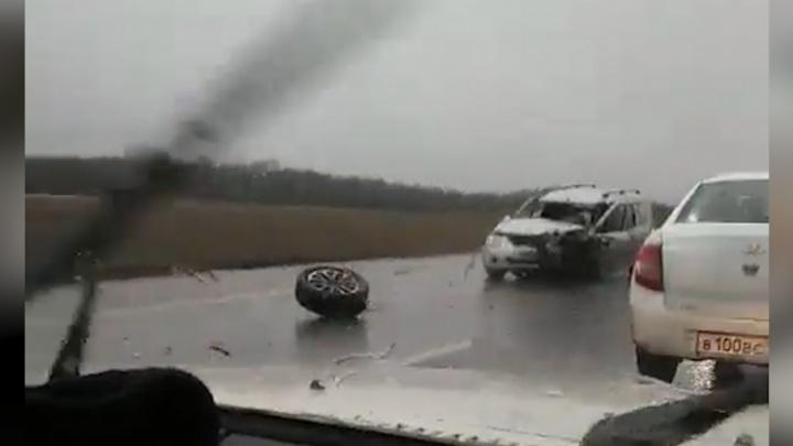 Массовое ДТП на трассе Уфа — Оренбург: есть пострадавшие