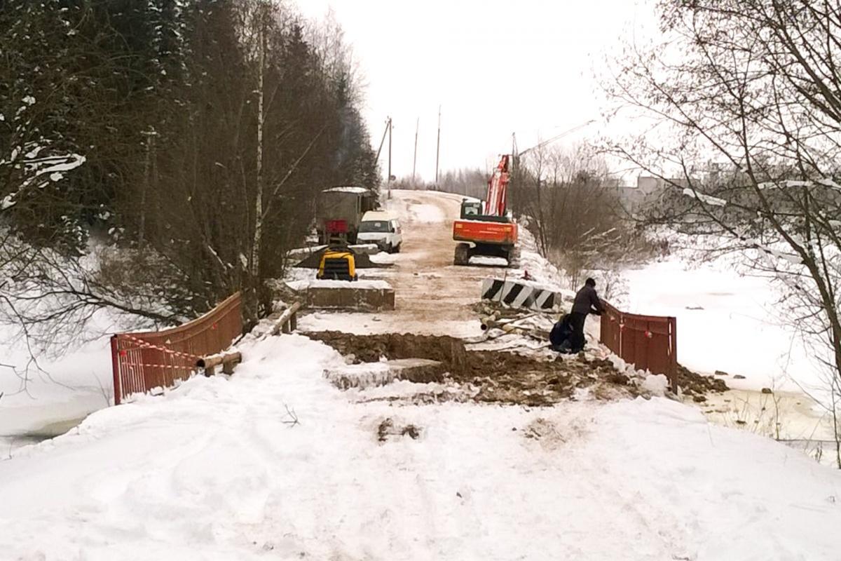 Подрядчик приступил к ремонту моста 4 декабря
