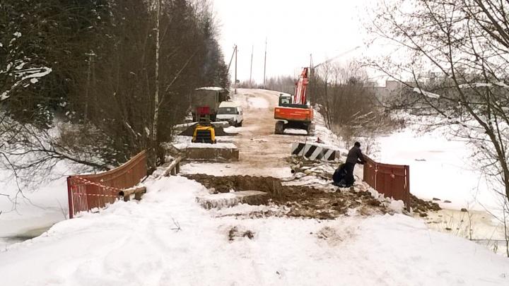 В Перми начали строить мост между микрорайоном Заозерье и деревнями Пермского района