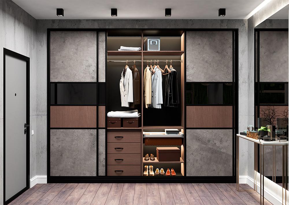 Мебель по индивидуальным проектам: шкафы-купе прямые и угловые
