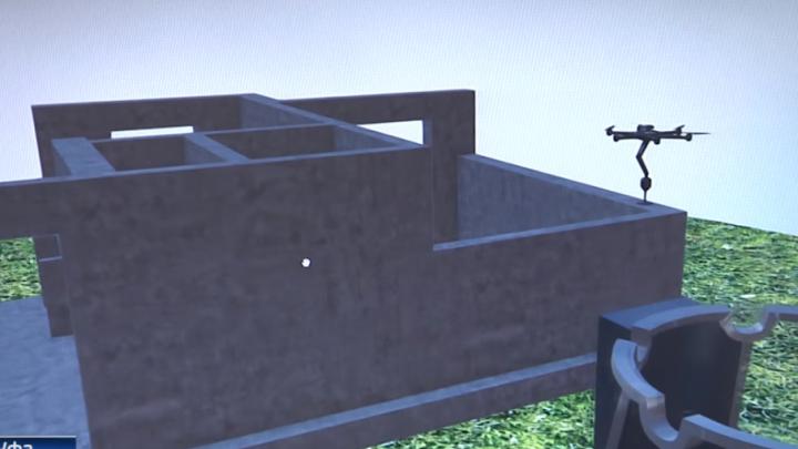 В Уфе придумали строить дома с помощью дронов