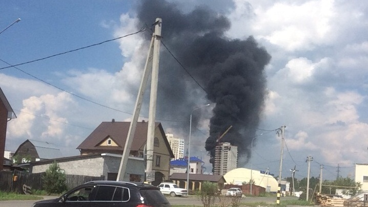 В строящемся доме в районе ММС произошел пожар