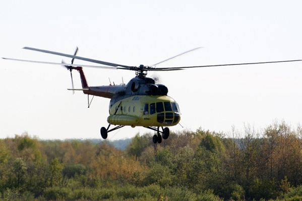 Примерно на таком вертолёте летели вахтовики