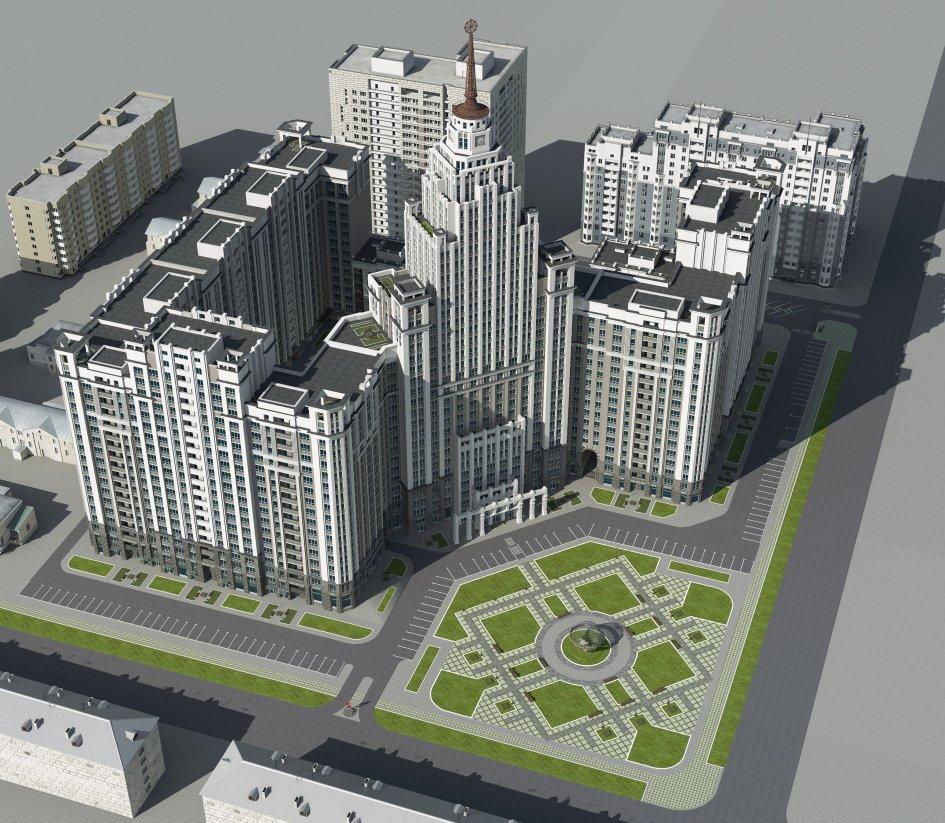«Построим сталинскую высотку, обустроим сквер»: застройщик — о новом необычном проекте в центре
