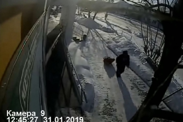 Похищенное осуждённый увёз на санках