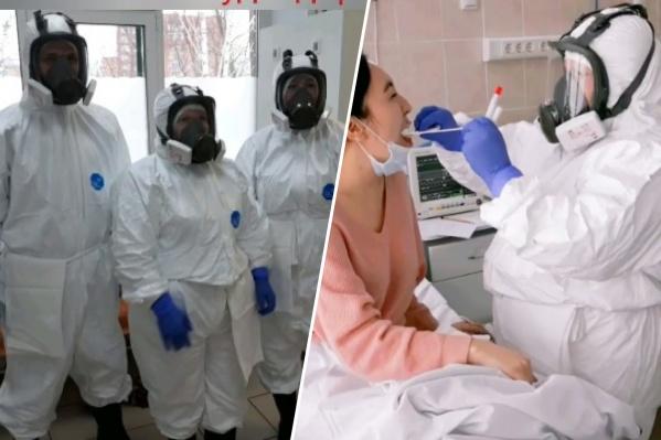В Красноярске провели учения по принятию пациентов с коронавирусом