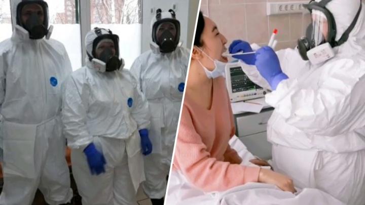 В БСМП прошли учения по приемке пациентов с коронавирусом