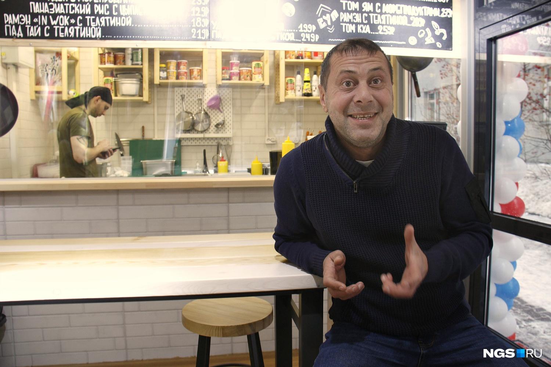 Роман Комаров хочет создать сеть недорогих закусочных с необычной едой