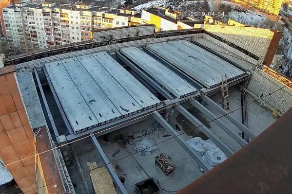 Так сейчас выглядит крыша
