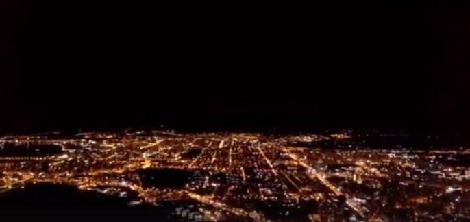Как освещается Красноярск: ночной город с высоты птичьего полета