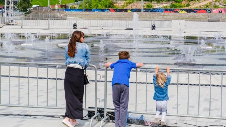 В Перми после травм детей временно оградили новый фонтан