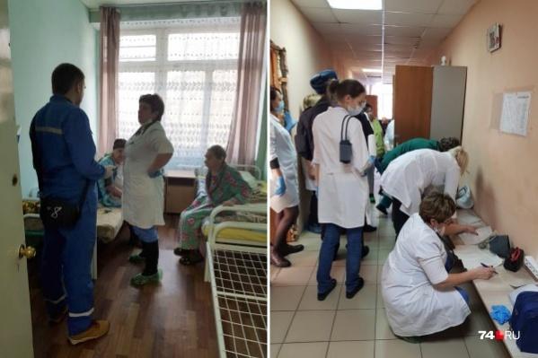 Скандал начался с пансионата в Ленинском районе Челябинска. Бригады скорой помощи несколько часов развозили его пациентов по больницам