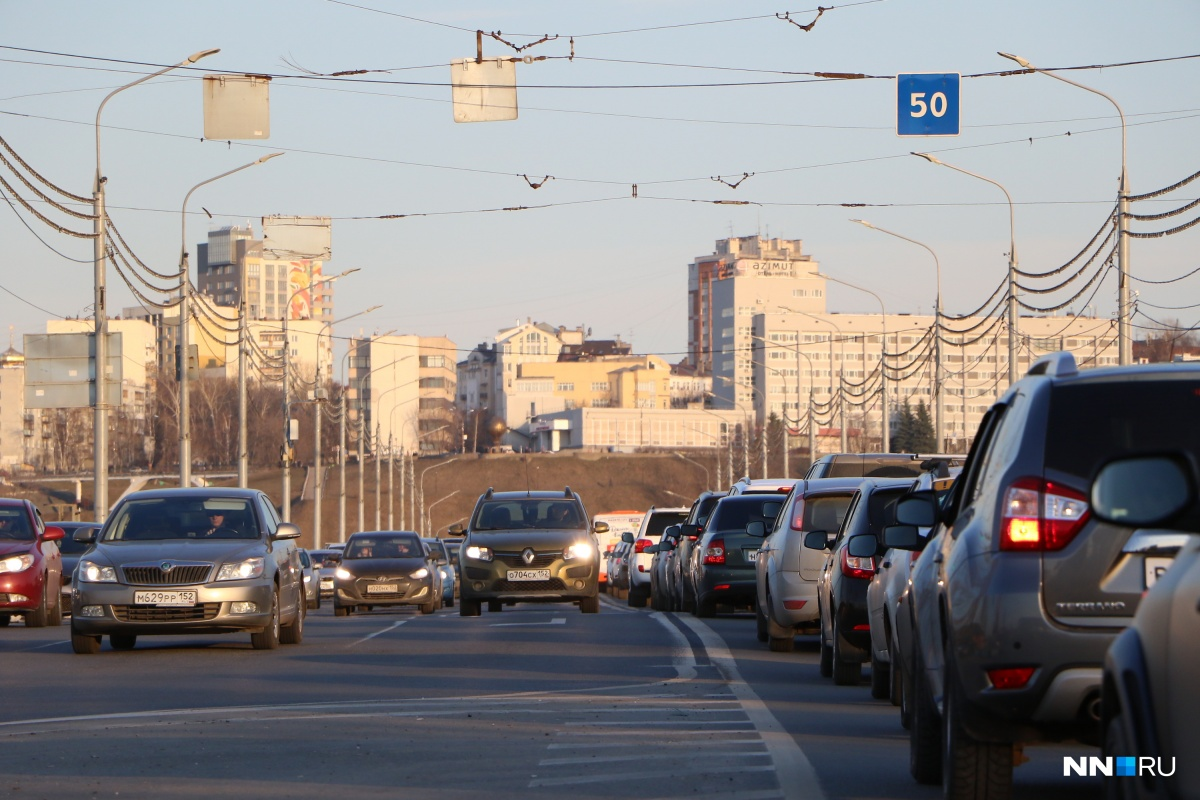 Обычно нижегородские дороги забиты ближе к концу недели