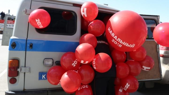 Удар по шарам: смотрим топ-15 снимков с акции сторонников Навального в Челябинске