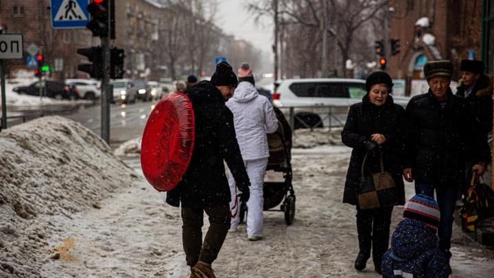 После плюсовой погоды в Новосибирск идёт резкое похолодание
