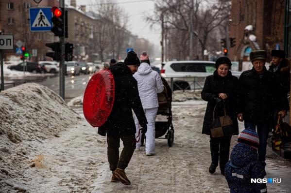 Уже завтра, в понедельник, 10 февраля, дороги Новосибирска обледенеют