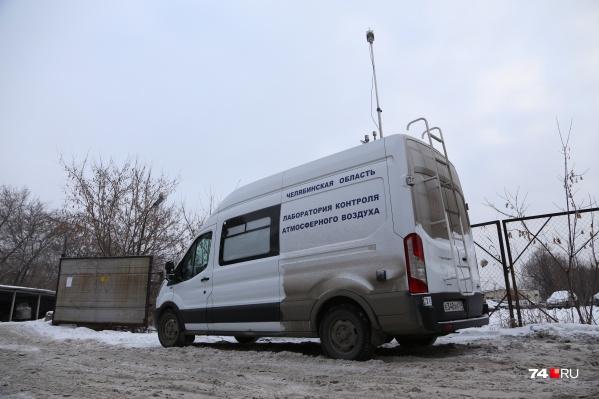 Журналисты выехали с передвижной лабораторией Минэкологии в Металлургический район