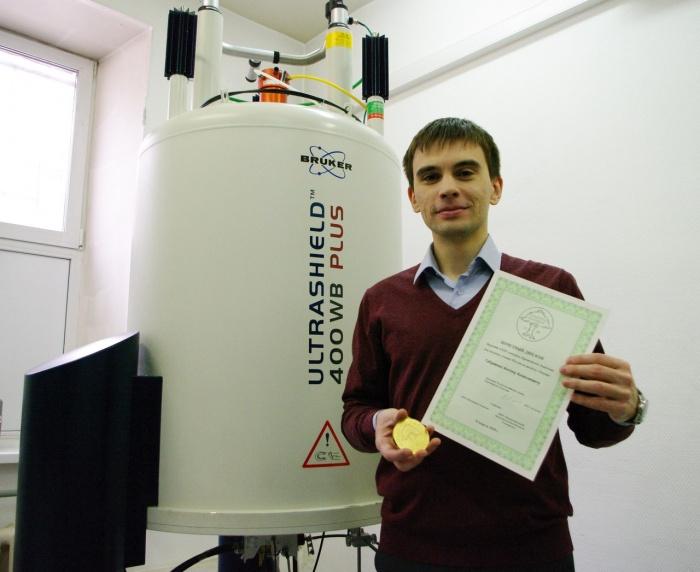 Антон Габриенко с дипломом