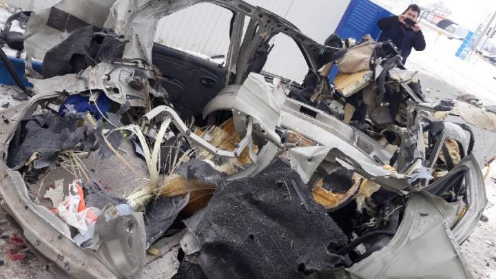 В Башкирии на газозаправке взорвался автомобиль