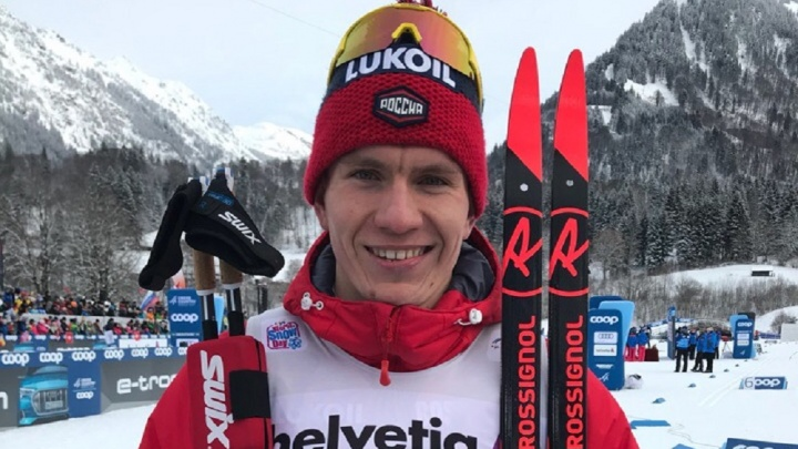 Тюменский лыжник Александр Большунов завоевал бронзовую медаль в гонке преследования в Оберстдорфе