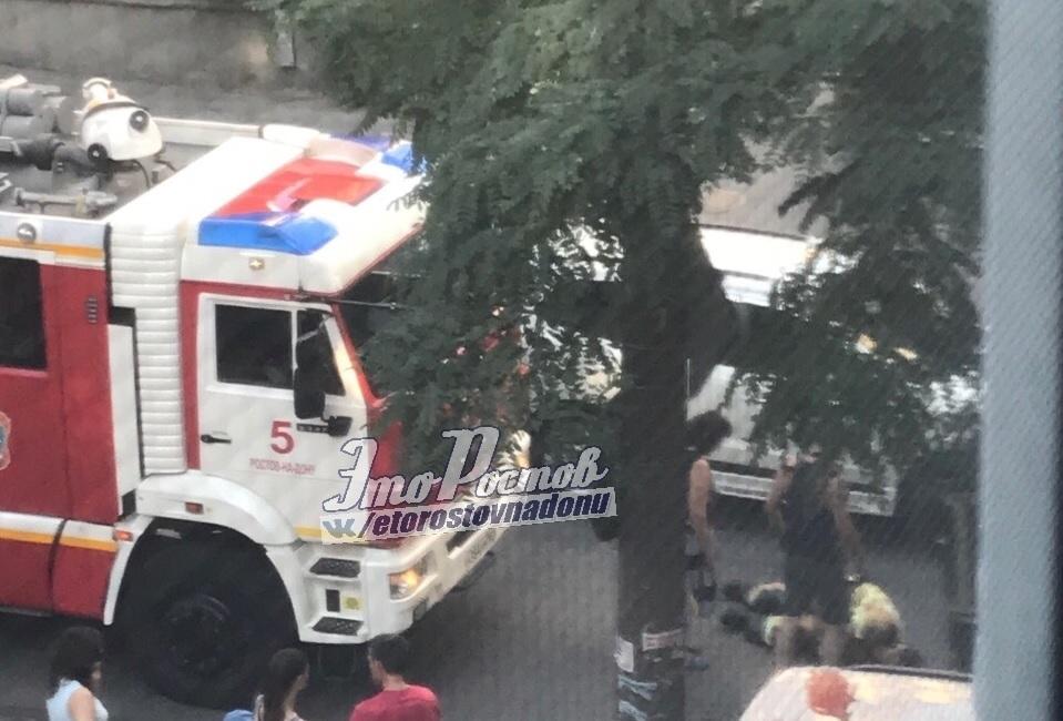 Пожарного сбили, как только он вышел из служебного автомобиля