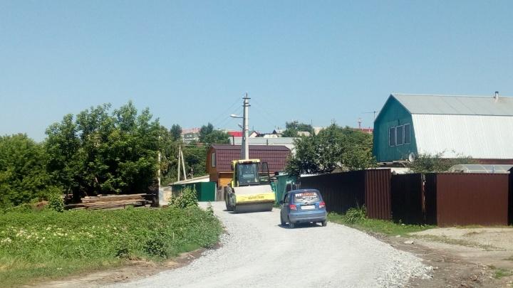 Власти отремонтировали сильно разбитые дороги в Заельцовском районе