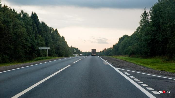 Его накрыли тряпочкой: на трассе в Ярославской области насмерть сбили человека