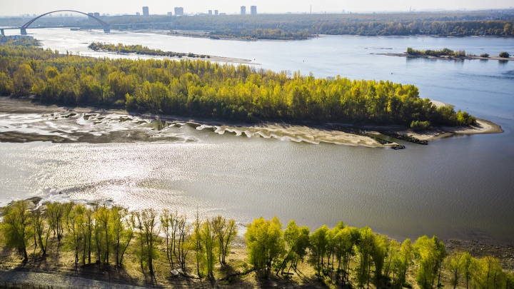 Новосибирский теплоход с иностранными туристами застрял в Томске из-за обмелевшей Оби