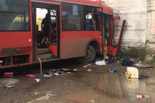 После ДТП автобус обследовали оперативные органы
