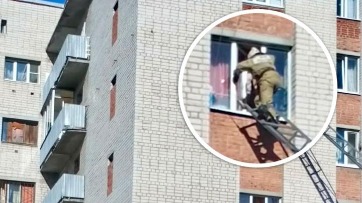 Звал маму и плакал: на Вторчермете пожарные спасли ребенка, едва не выпавшего с восьмого этажа