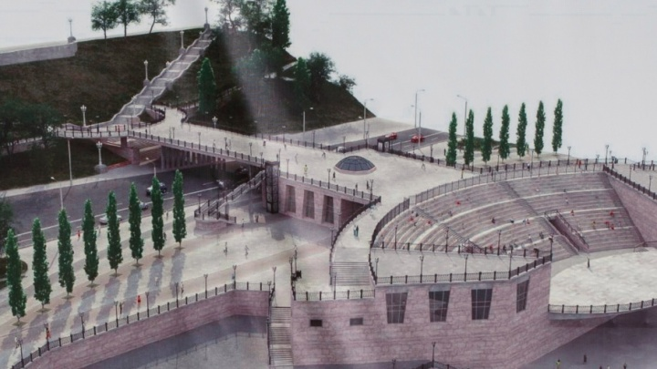 На вырубленной набережной Волгограда построят амфитеатр, фонтаны и туалеты