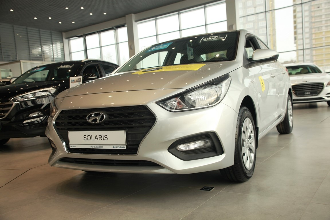 Hyundai Solaris в «Регинас»: в наличии от 586 000 руб. Кредит от 0,1% или от 6000 руб./мес.
