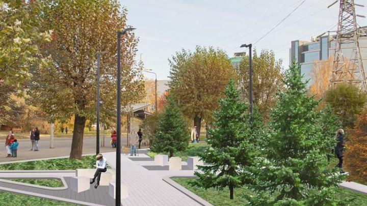 Брусчатка и подсветка деревьев: в администрации показали проект сквера на Маерчака