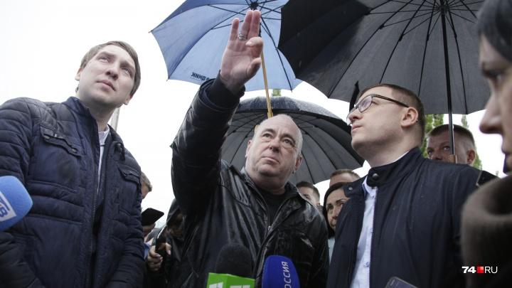 Врио губернатора под дождём потребовал отставки главного дорожника Челябинска