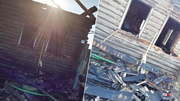 Во время ночного пожара в ишимском селе погиб мужчина