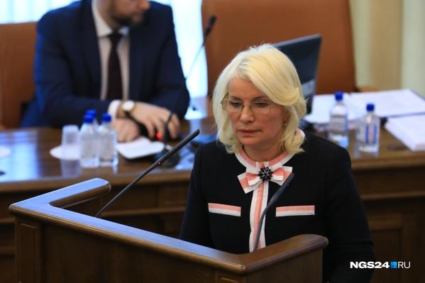 Выступление Татьяны Давыденко в Законодательном собрании