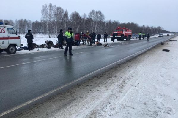 ДТП произошло в 10:30 на трассе Новосибирск — Барнаул
