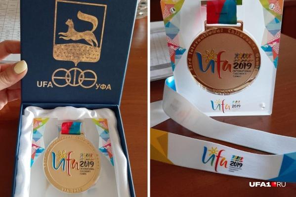 Вот такие медали получат юные спортсмены после побед на Играх в Уфе