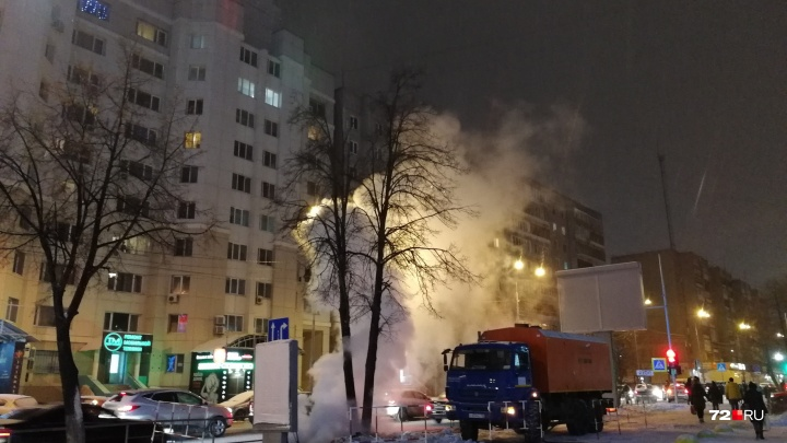 Два десятка жилых домов и одна школа остались без горячей воды и тепла из-за прорыва на Харьковской