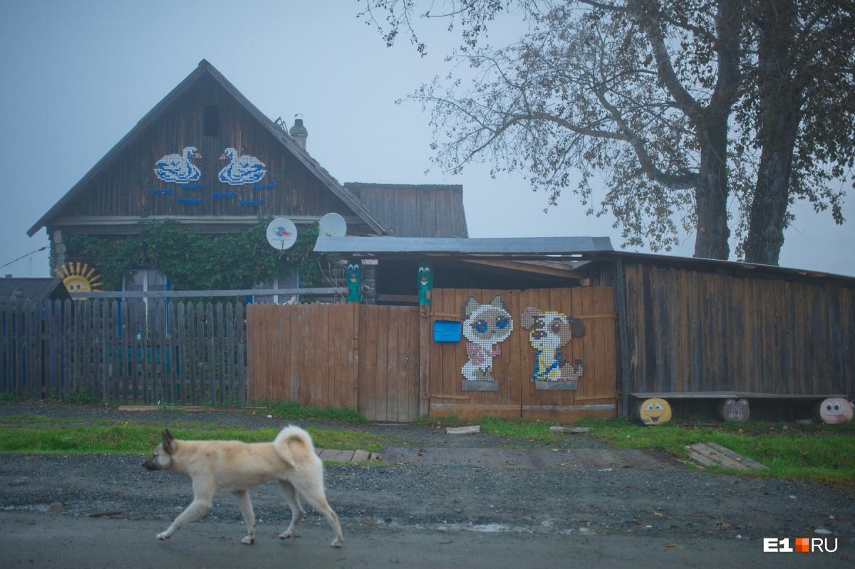 Раннее утро в Полуночном, поселок находится на пути из Ивделя в Ушму