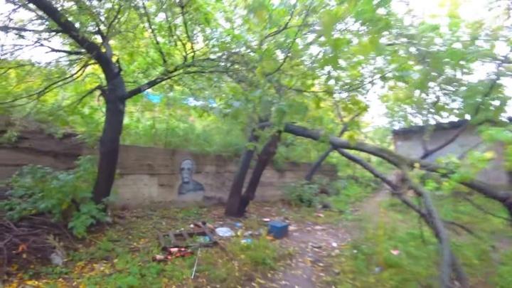 «Здесь мог бы быть сквер»: красноярец упрекнул чиновников за заросший бурьяном пустырь у мэрии